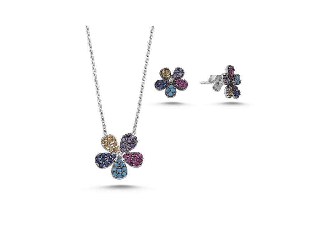 1594 Sada strieborných šperkov KVIETOK