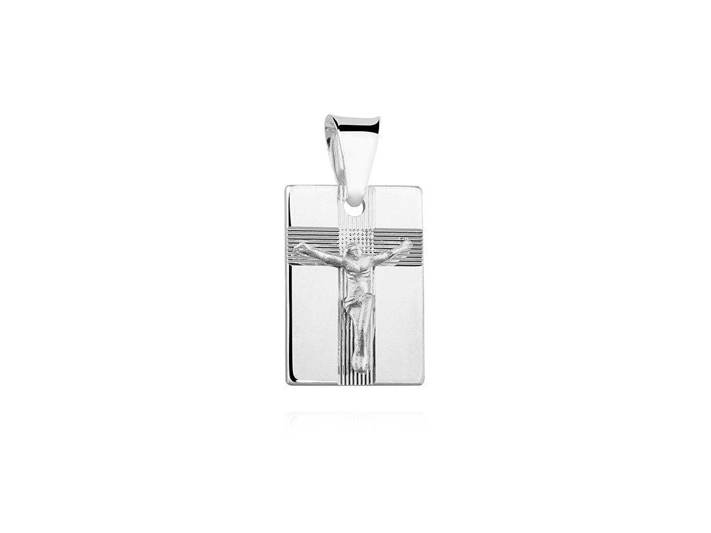 1645 Strieborný prívesok JEŽIŠ na kríži