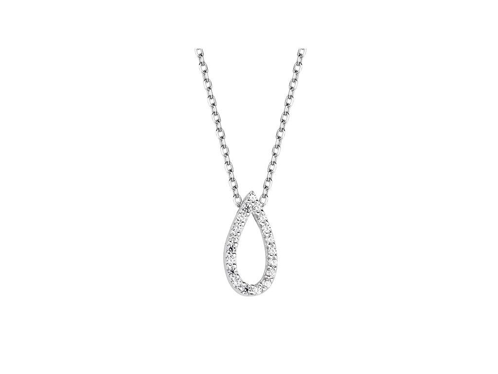 1766 Strieborný náhrdelník s čírymi zirkónmi