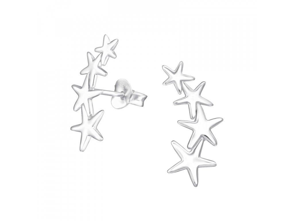 1958 Strieborné náušnice STAR