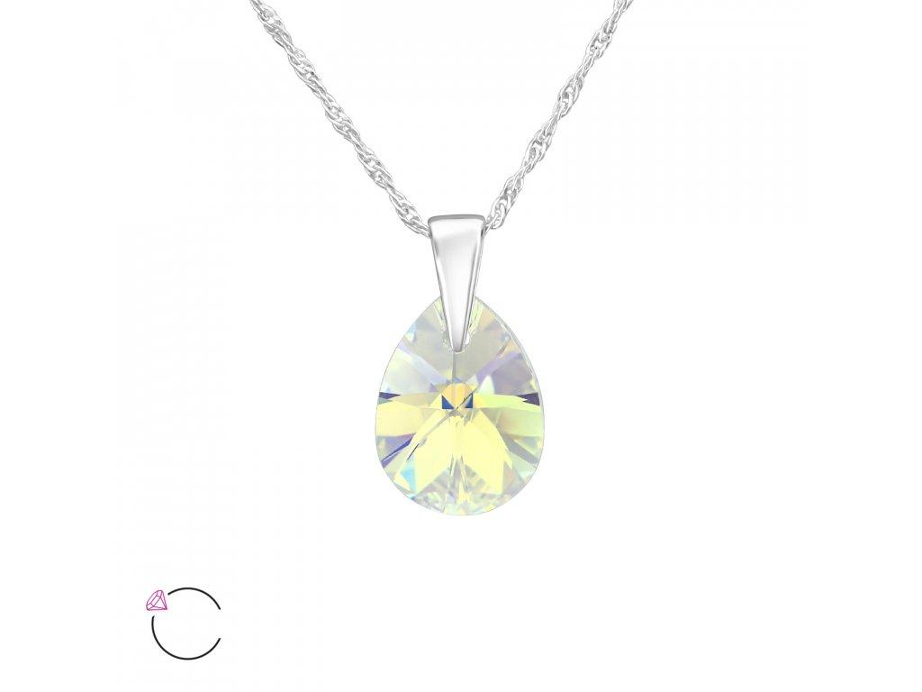 1967 Strieborný náhrdelník SLZA Swarovski AB