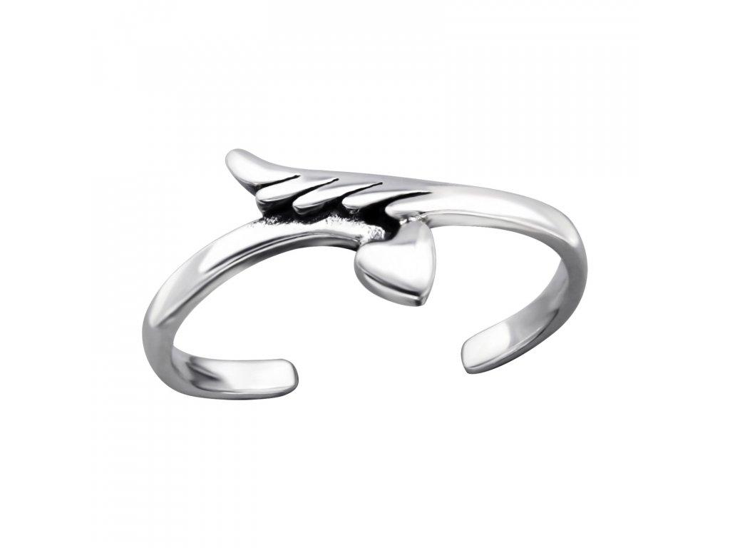 2091 Strieborný prsteň na nohu