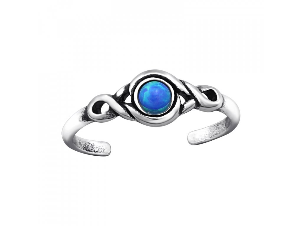 2223 Strieborný prsteň na nohu OPAL