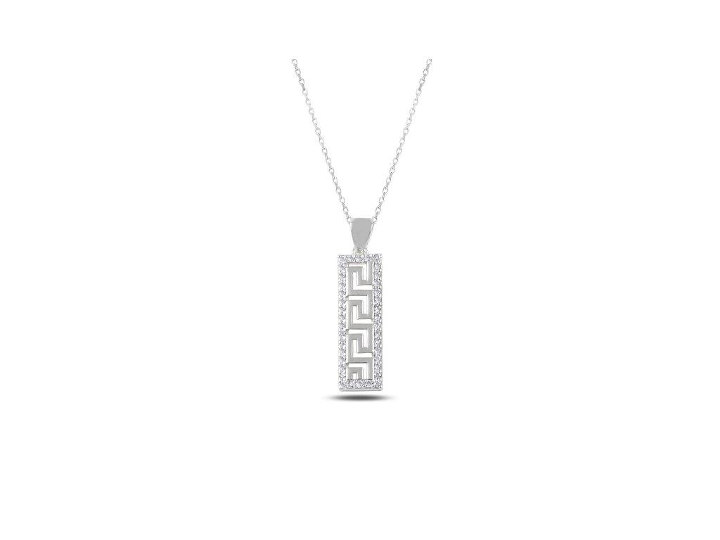 2336 Strieborný náhrdelník so zirkónmi