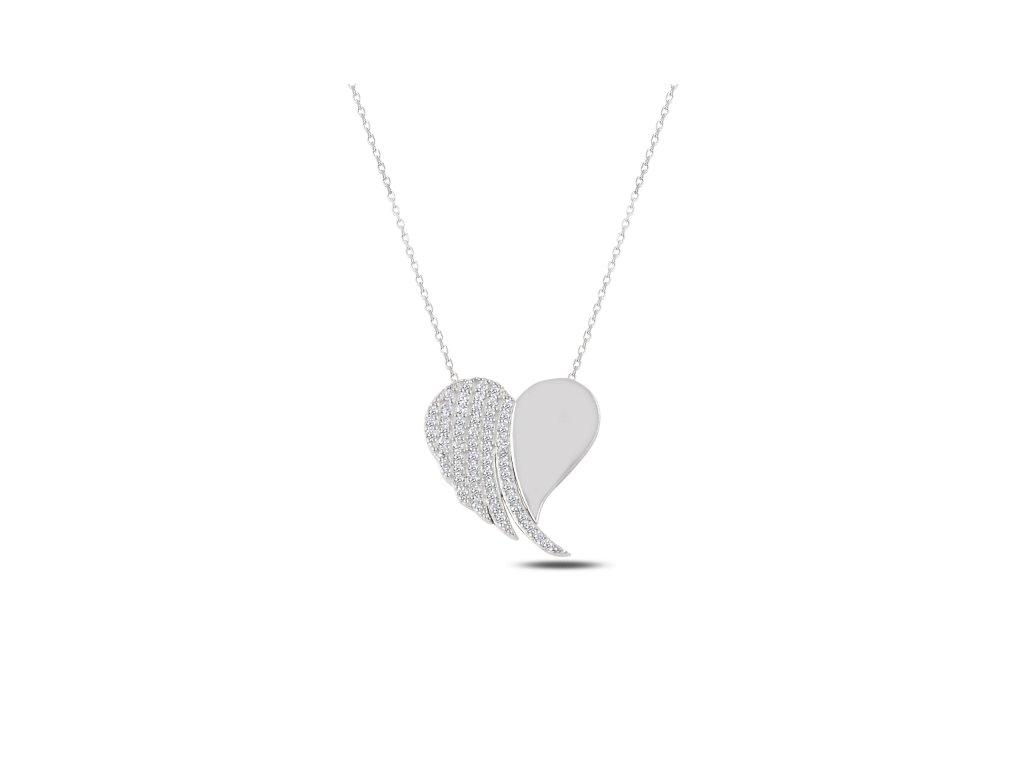 2339 Strieborný náhrdelník SRDCE