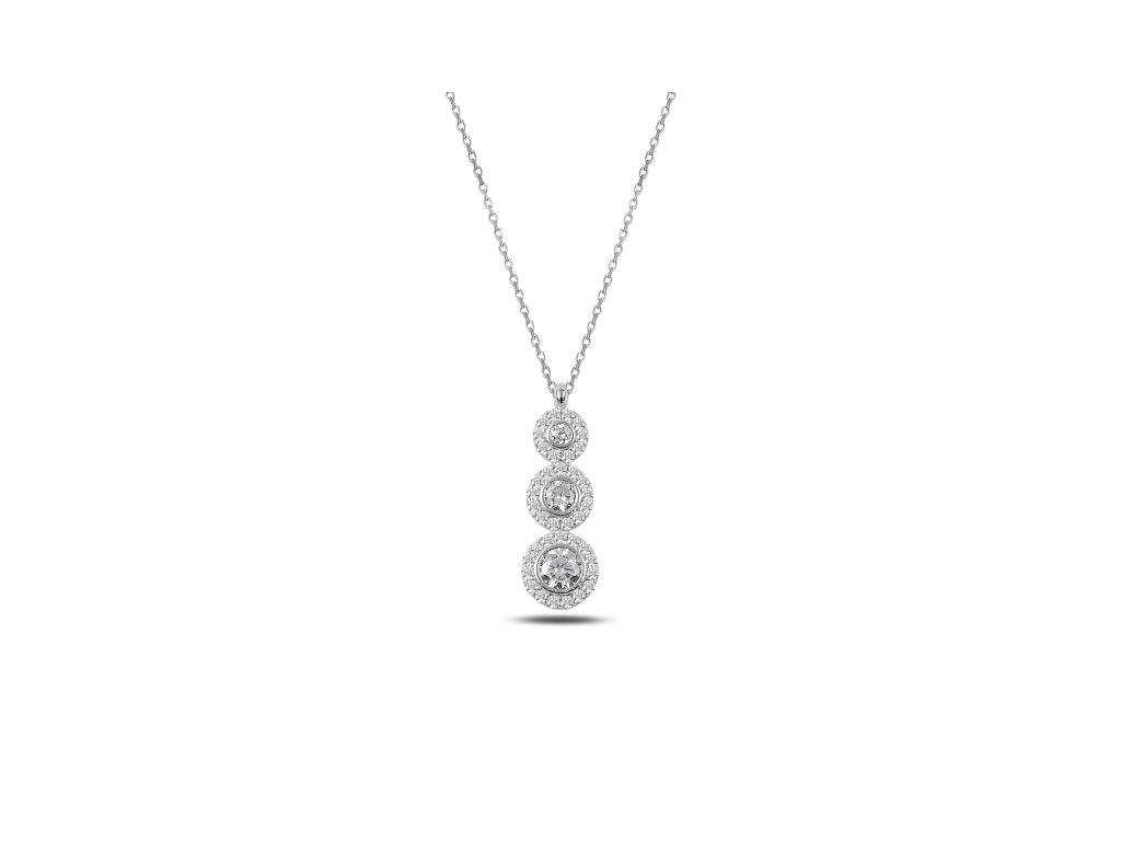 2342 Strieborný náhrdelník so zirkónmi