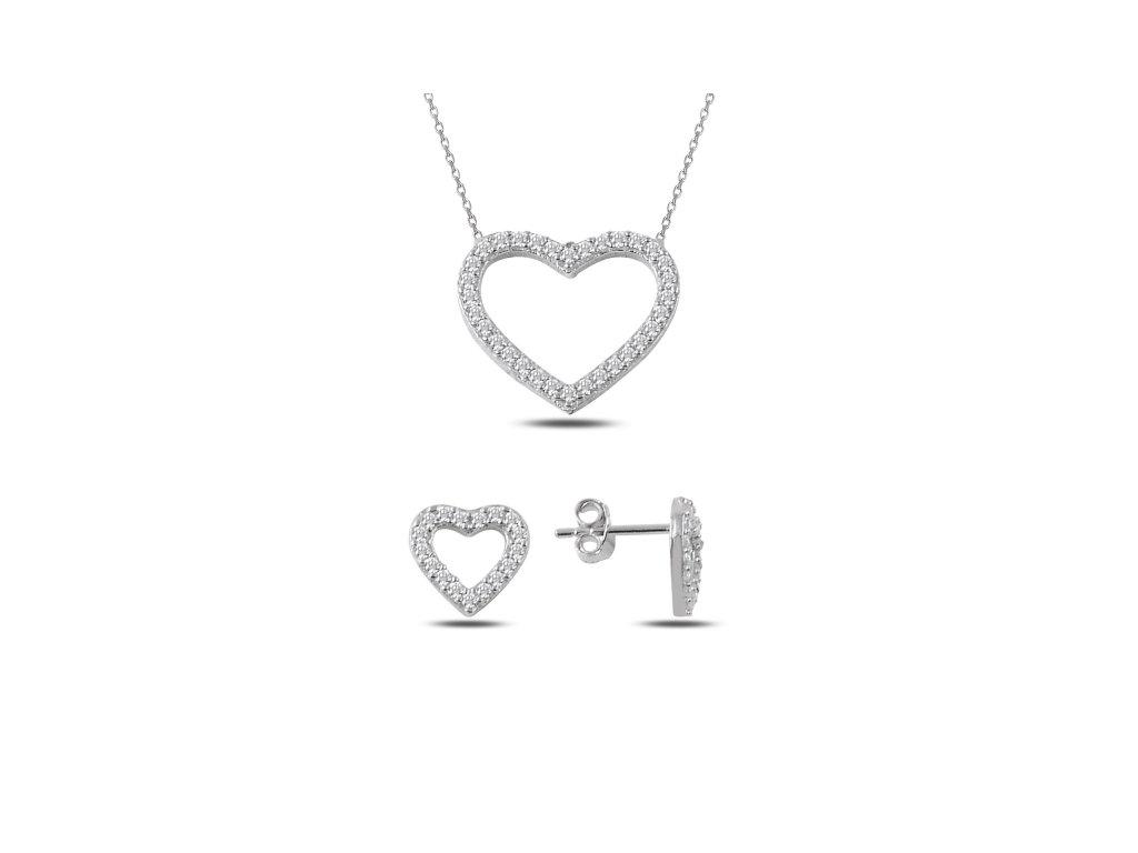 2350 Sada strieborných šperkov SRDCE