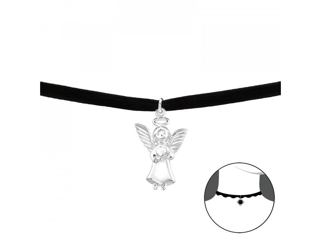 2492 Choker náhrdelník anjel