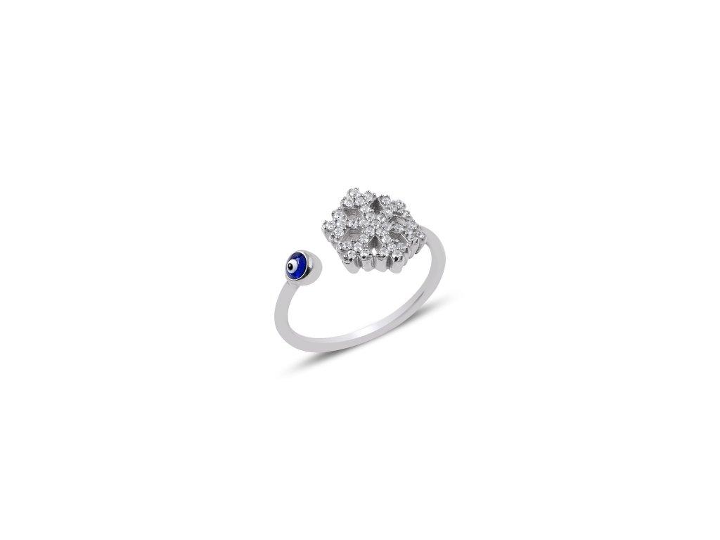 2572 Strieborný prsteň SNEHOVÁ VLOČKA Nazare