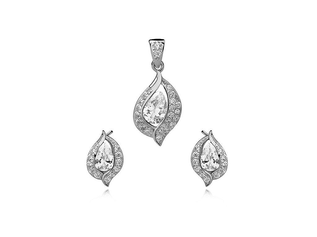 2671 Sada strieborných šperkov so zirkónmi