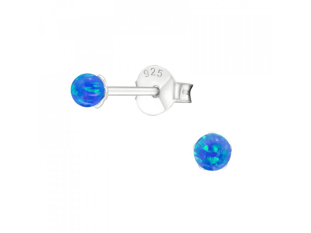 2764 Strieborné mini guľôčky s opálom 3 mm