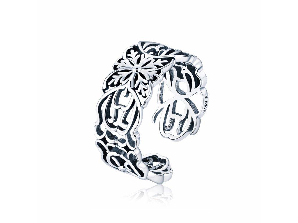 2945 Strieborný prsteň VINTAGE
