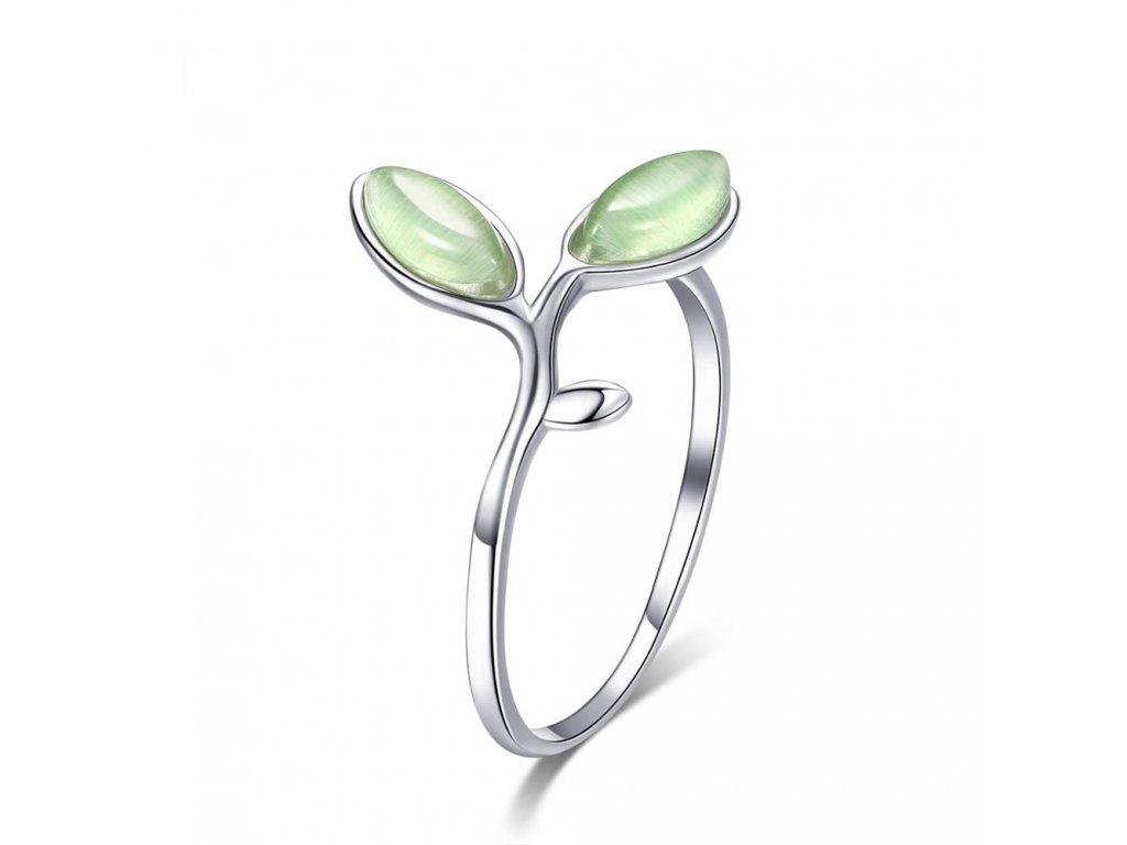 2954 Strieborný prsteň OLIVA