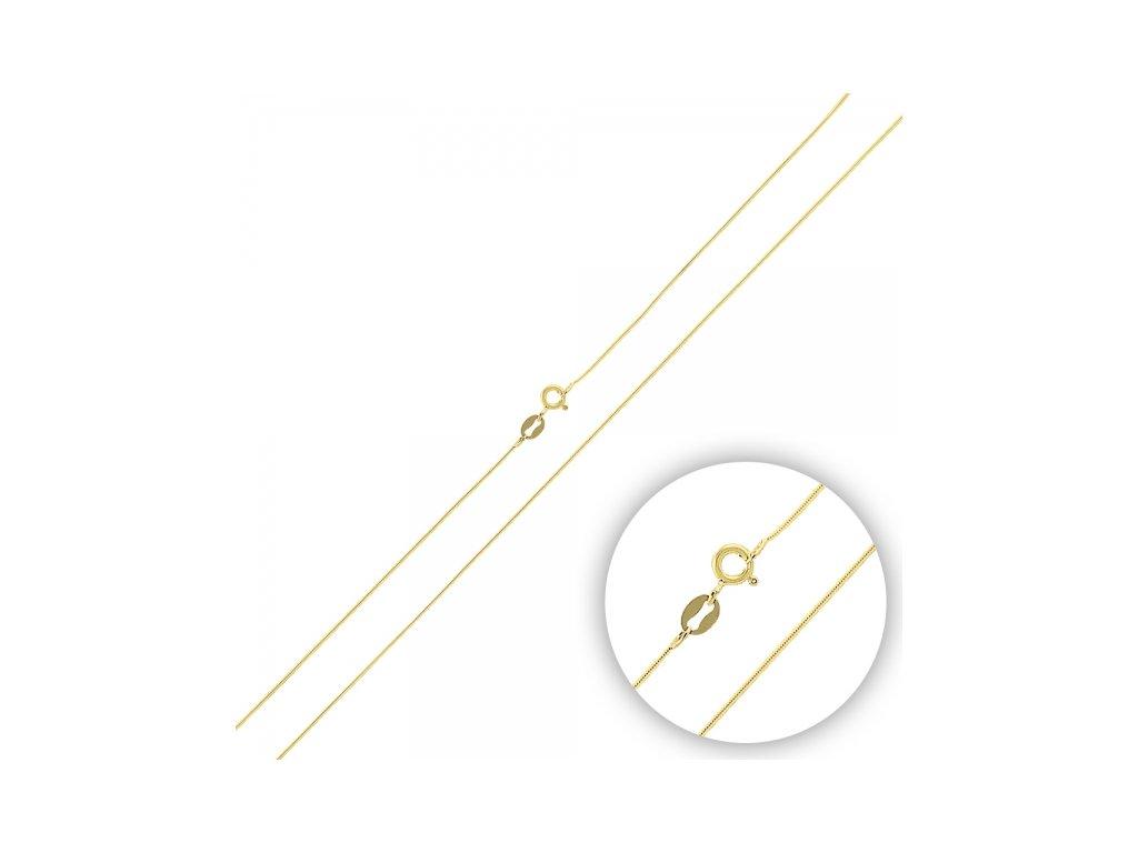 2815 Strieborná retiazka HAD 40 cm GOLD