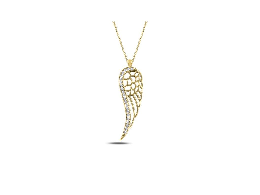 2961 Strieborný náhrdelník anjelské krídla GOLD