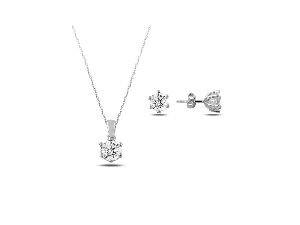 2874 Sada strieborných šperkov ZIRKON