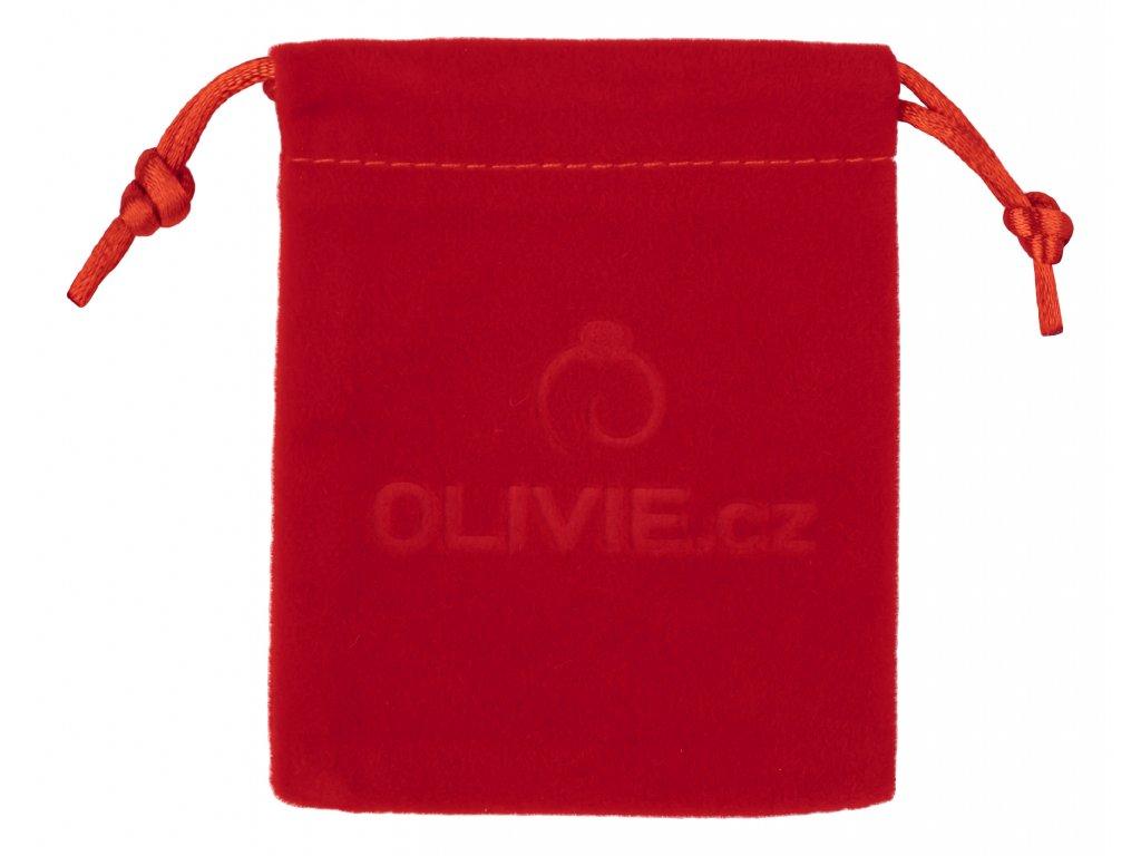 3002 Zamatové vrecko červené