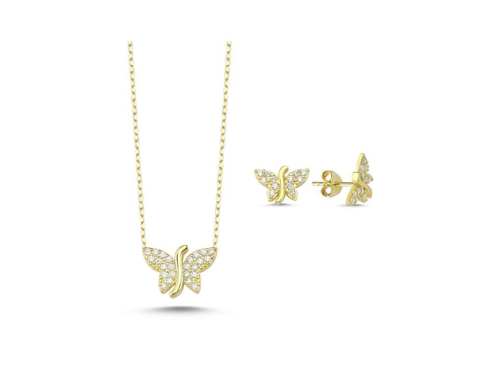 3171 Sada strieborných šperkov MOTÝL GOLD