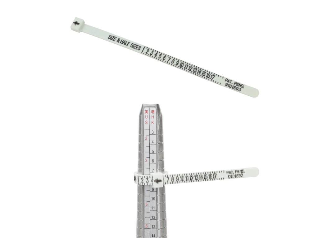 3203 Plastový merač veľkosti prsteňa