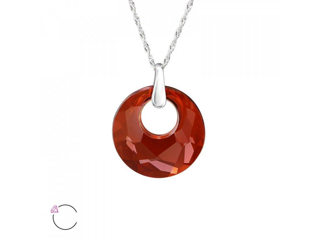 3228 Strieborný náhrdelník so Swarovski kryštálom