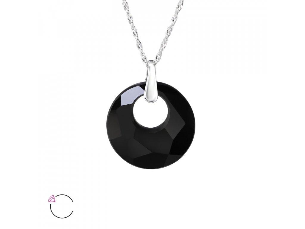 3229 Strieborný náhrdelník so Swarovski kryštálom
