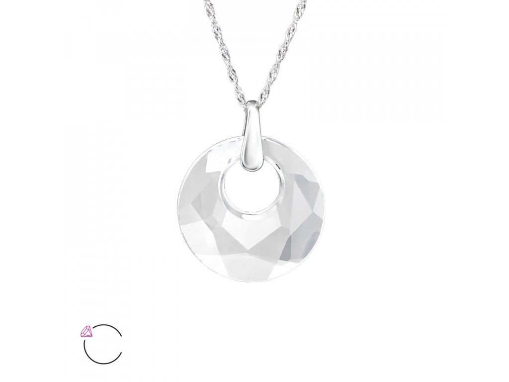 3230 Strieborný náhrdelník so Swarovski kryštálom