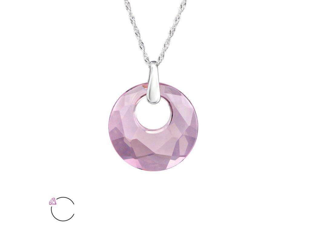 3231 Strieborný náhrdelník so Swarovski kryštálom