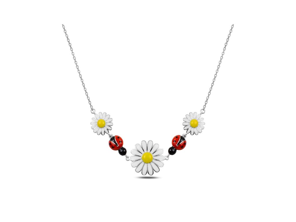 3351 Strieborný náhrdelník BERUŠKY A SEDMOKRÁSKY