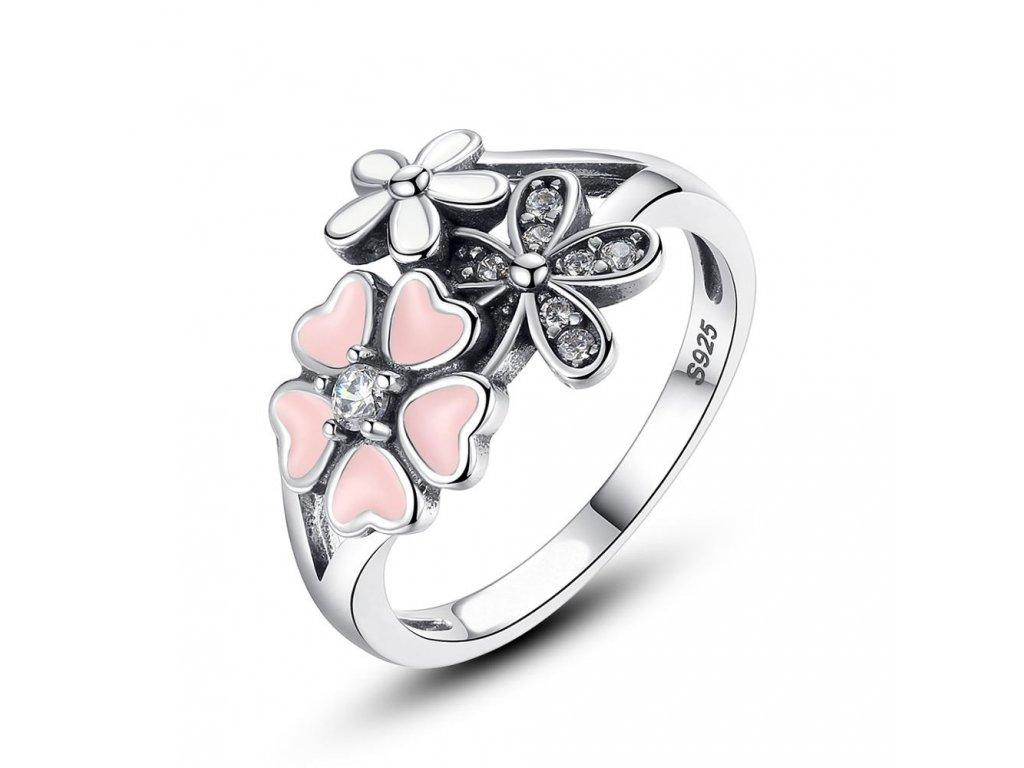 3450 Strieborný prsteň ČEREŠŇOVÝ KVET