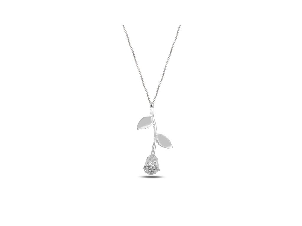 3457 Strieborný náhrdelník RUŽE