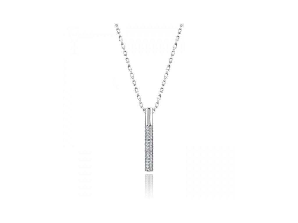 Strieborný náhrdelník so Swarovski zirkónmi