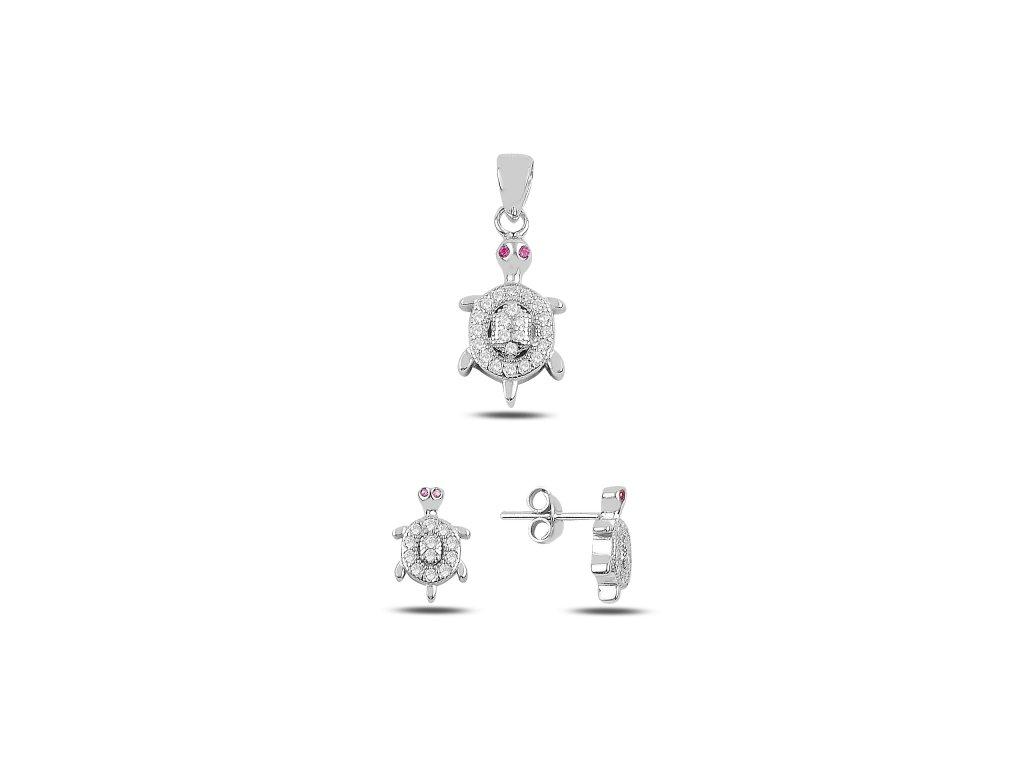 3472 Sada strieborných šperkov KORYTNAČKA