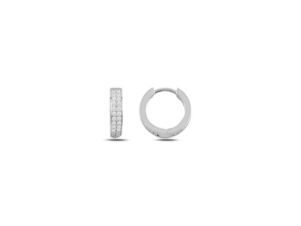 3478 Strieborné zirkonové krúžky
