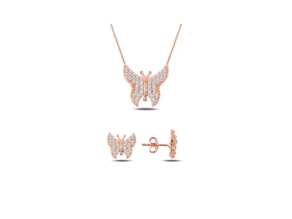 3513 Sada strieborných šperkov ROSE MOTÝL