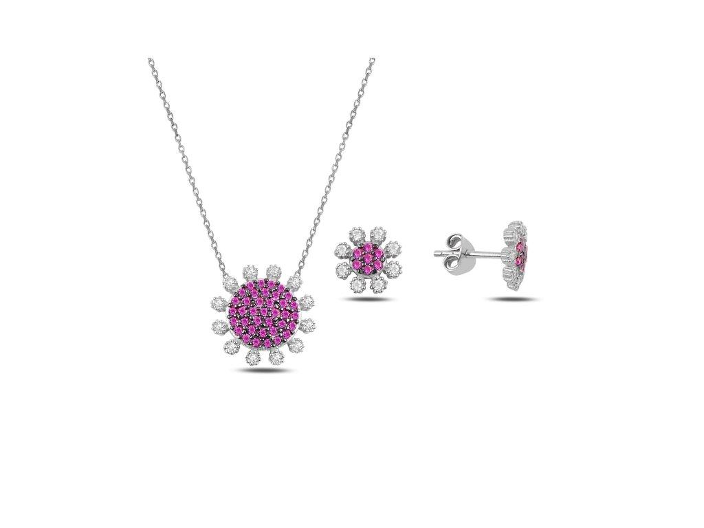 3516 Sada strieborných šperkov KVIETOK