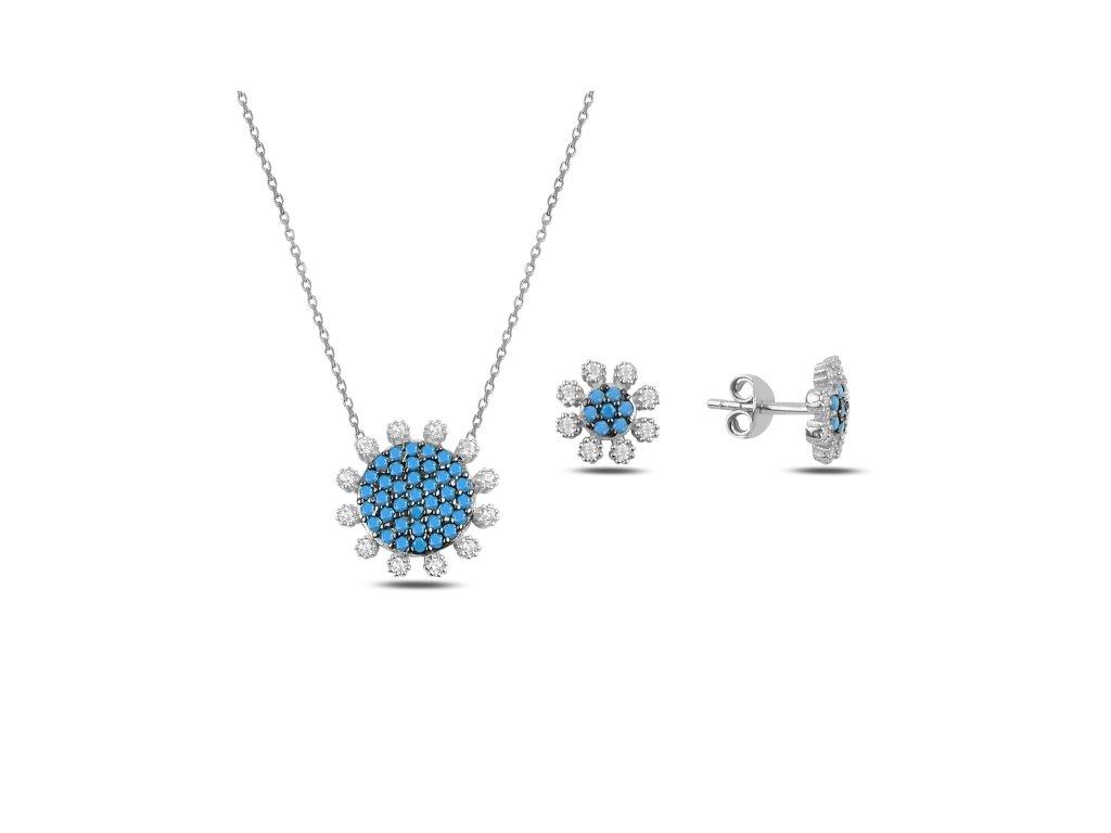 3517 Sada strieborných šperkov KVIETOK
