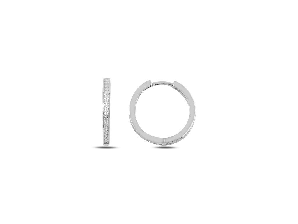 3544 Strieborné kruhy 2 cm