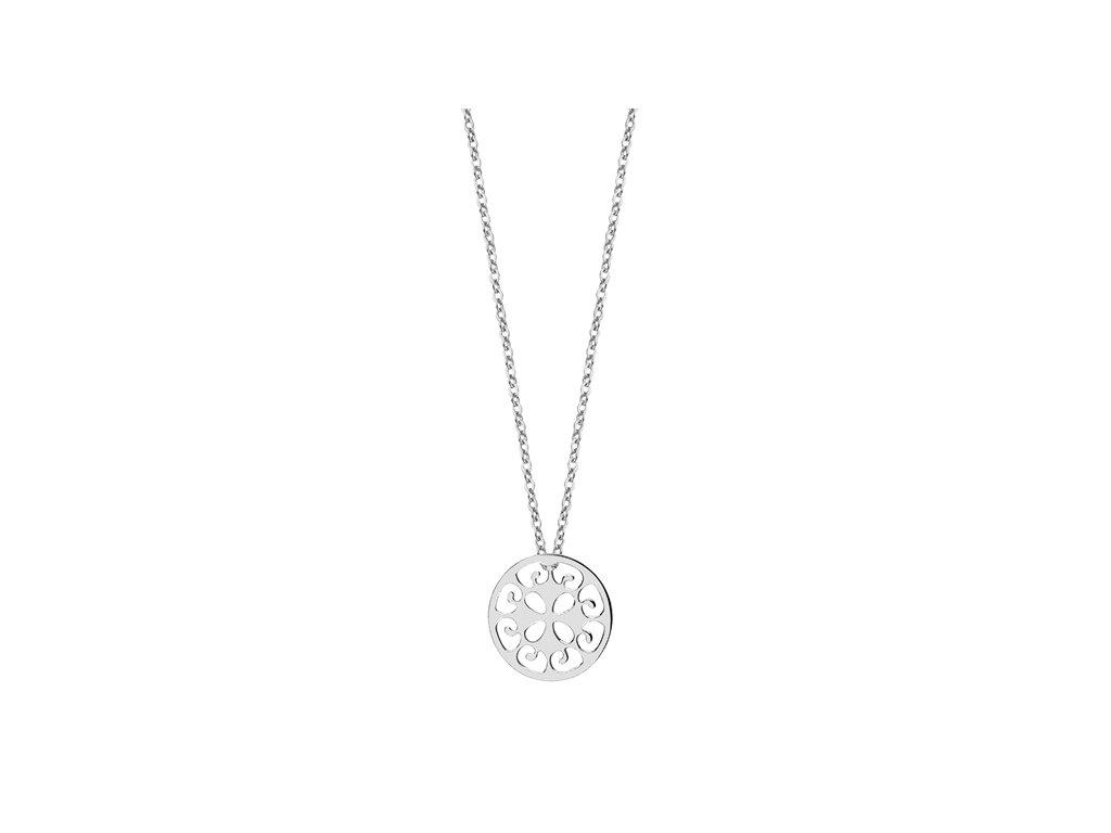 3579 Strieborný náhrdelník ŠŤASTIE