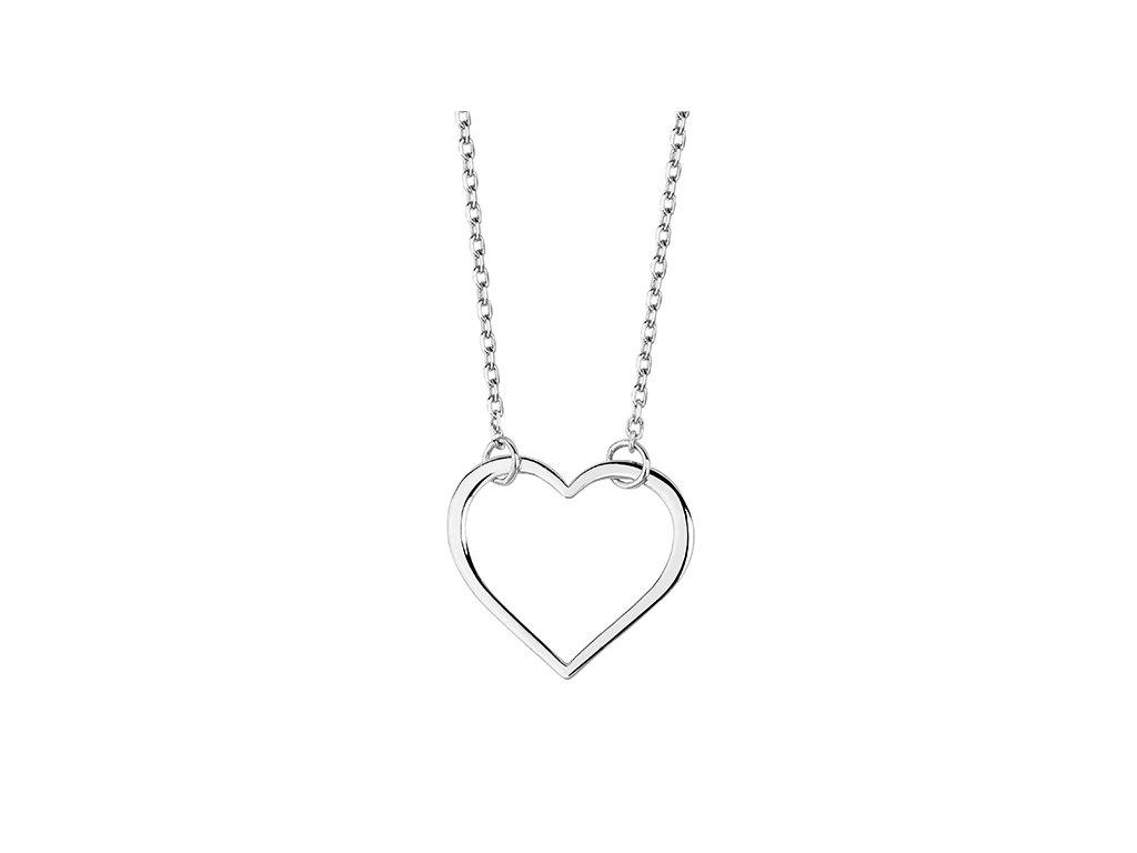 3580 Strieborný náhrdelník SRDCE