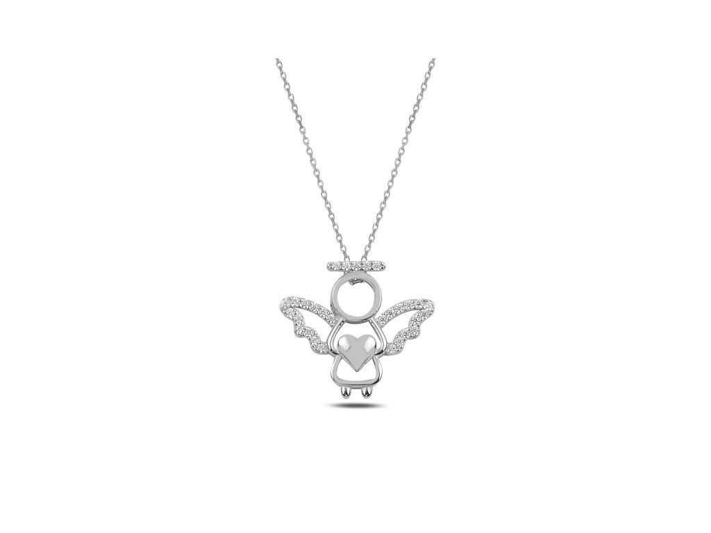 3693 Strieborný náhrdelník ANJEL