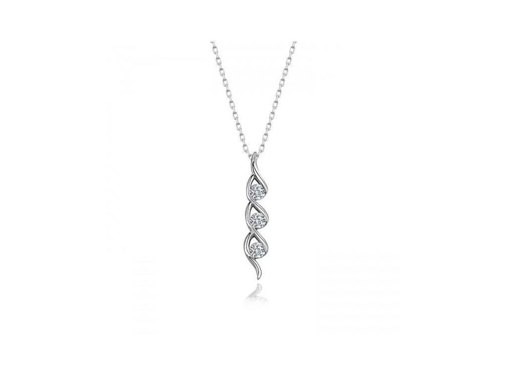Strieborný náhrdelník SWAROVSKI