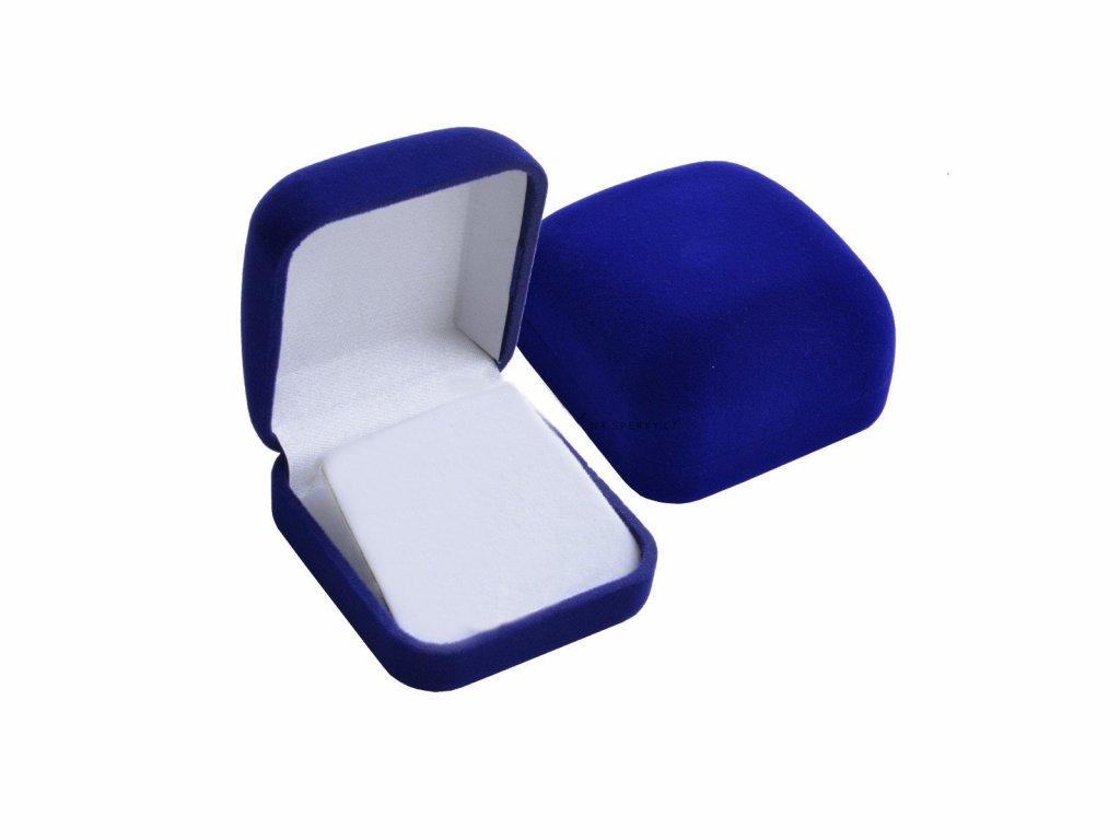 3810 Modrá darčeková krabička na retiazku