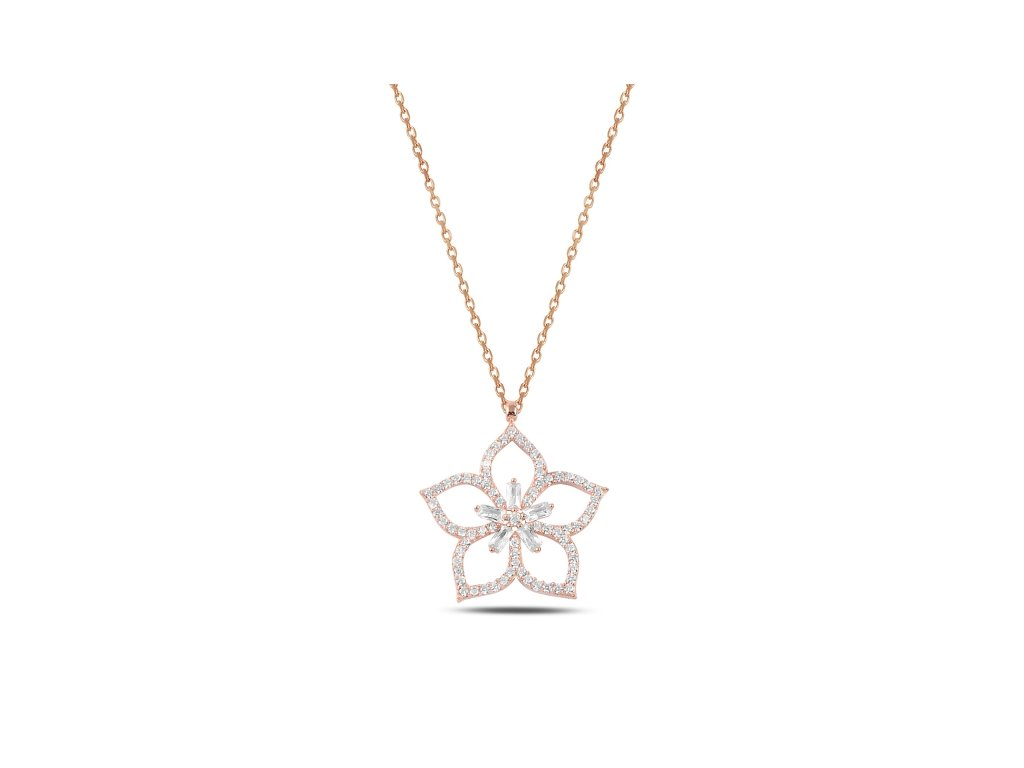 3898 Strieborný náhrdelník LOTOS ROSE