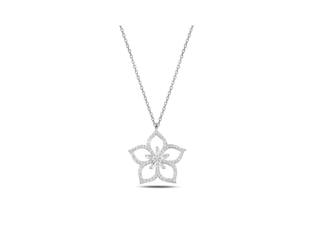 3899 Strieborný náhrdelník LOTOS
