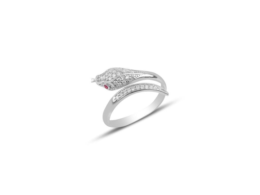 3910 Strieborný prsteň HAD