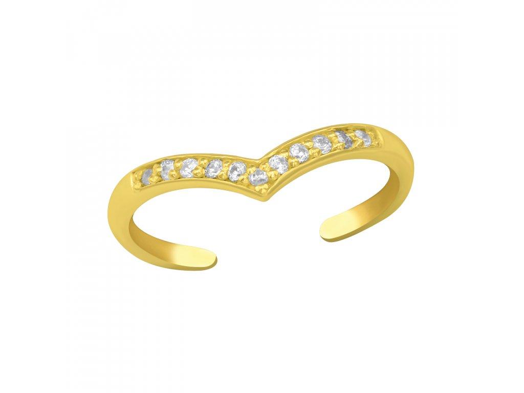 4010 Strieborný prsteň na nohu GOLD