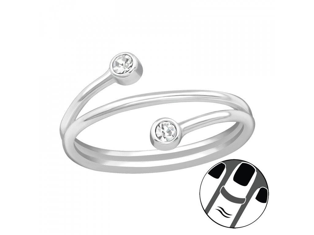 4014 Strieborný midi prsteň