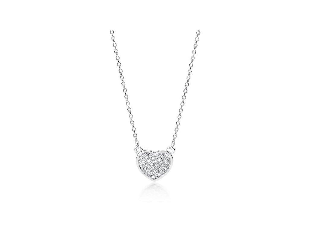 4077 Strieborný náhrdelník SRDIEČKO