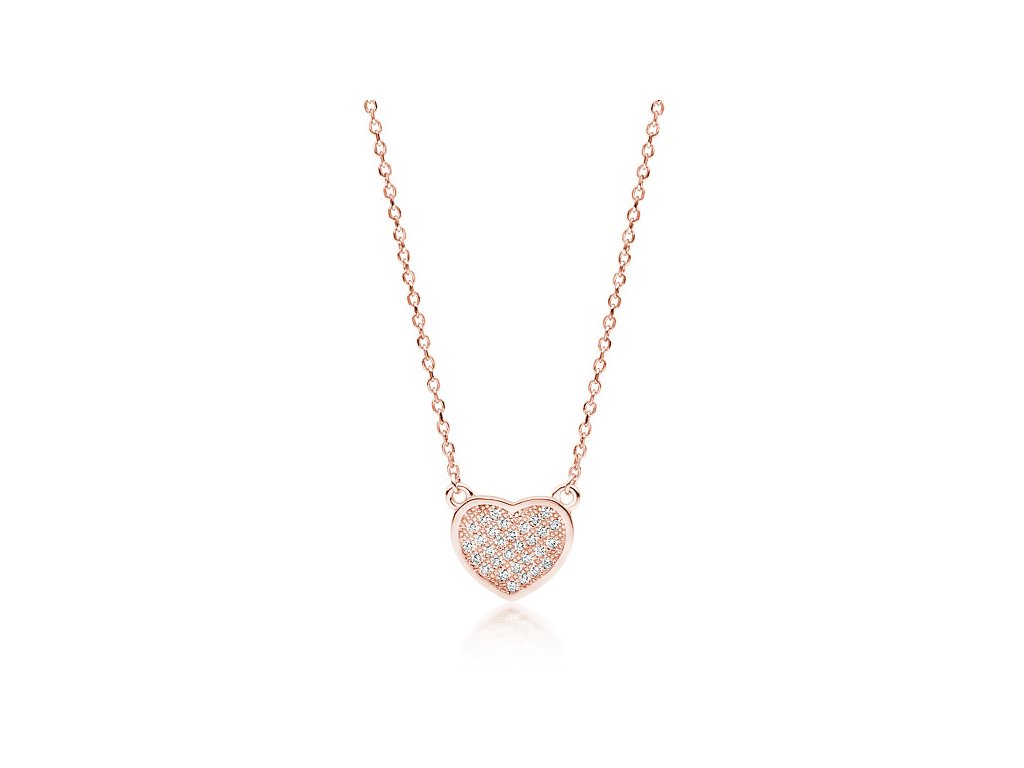 4079 Strieborný náhrdelník SRDIEČKO ROSE