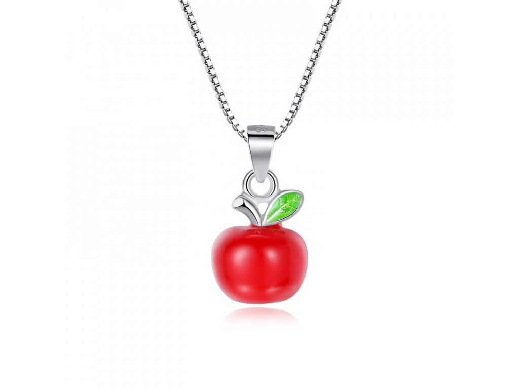 4134 Strieborný náhrdelník JABLKO
